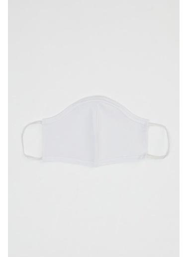 DeFacto Yıkanabilir Pamuklu Maske Beyaz
